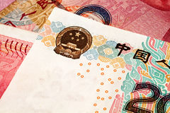 Chinese Yuan Currency Close Up Lizenzfreie Stockbilder