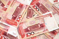 Chinese Yuan Currency Close Up Stock Photos