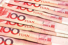 Chinese Yuan Currency Close Up Royalty Free Stock Photos