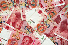 Chinese Yuan Currency Close Up Stock Image