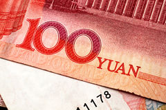 Chinese Yuan Currency Close Up Stock Photo