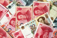 Chinese Yuan Currency Close Up Royalty Free Stock Photography