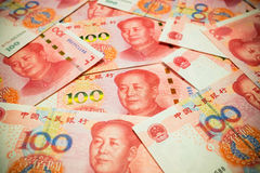 Chinese Yuan Note rmb or renminbi background textured Stock Photography