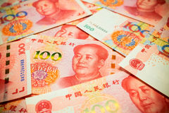 Chinese Yuan Note rmb or renminbi background textured Royalty Free Stock Photos