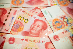 Chinese Yuan Note rmb or renminbi background textured Royalty Free Stock Photo