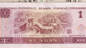Chinese yuan stock footage