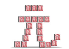 Chinese Yuan sign Stock Photo