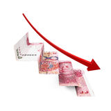 Chinese Yuan Staircase Origami Stock Photography