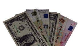 Chinese yuan, us dollar and euro Stock Photography