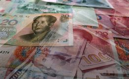 Free Chinese Yuan With American Money High Quality Royalty Free Stock Images - 155178929