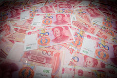 100 Chinese Yuans Stock Afbeelding