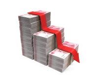 Chinese Yuans en Rode Pijl Stock Afbeelding