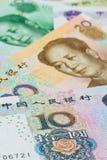 Chinese Yuansbankbiljetten (renminbi), voor geldconcepten Stock Afbeelding