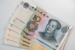 Chinese yuansbankbiljetten - RMB royalty-vrije stock foto's