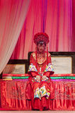 Chinese Yue opera actress perform on stage Royalty Free Stock Photo