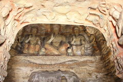 Chinese Yungang rock cave Royalty Free Stock Photography
