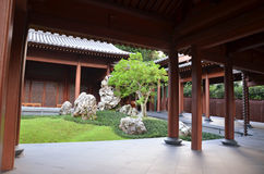Chinese Zen garden Stock Photo