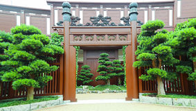 Chinese zen garden entrance Royalty Free Stock Images