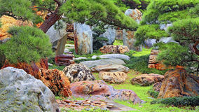 Chinese zen garden Stock Photos