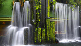 Chinese zen garden with waterfall Royalty Free Stock Photography