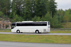 Chinese ZhongTongBus at High Speed on Motorway Royalty Free Stock Photos