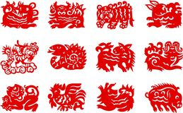 Chinese zodiac Royalty Free Stock Photos