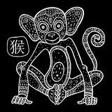 Chinese Zodiac. Animal astrological sign. monkey Royalty Free Stock Photography