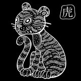 Chinese Zodiac. Animal astrological sign. Tiger Stock Image