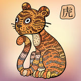 Chinese Zodiac. Animal astrological sign. Tiger Royalty Free Stock Images