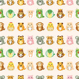 Chinese Zodiac animal  seamless pattern Royalty Free Stock Photo