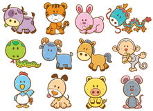 Chinese Zodiac animals Stock Images