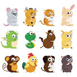 Chinese zodiac animals Stock Image