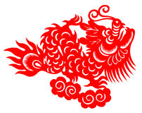 Chinese zodiac of dragon Stock Photography
