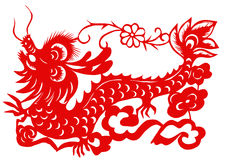 Chinese zodiac of dragon Stock Images