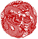 Chinese zodiac of dragon Royalty Free Stock Photos