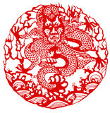 Chinese zodiac of dragon Stock Photos