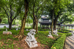 Chinese Zodiac garden statues Kowloon Walled City Park Hong Kong Stock Images