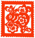 Chinese zodiac of hare Royalty Free Stock Photo