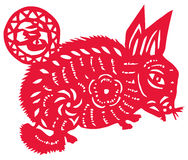 Chinese zodiac of hare Royalty Free Stock Images