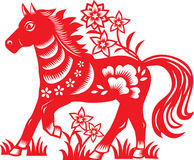 Chinese zodiac : horse Stock Image