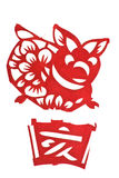 Chinese Zodiac image Of Pig Year Royalty Free Stock Photography