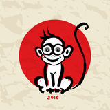 Chinese zodiac Monkey Royalty Free Stock Photos
