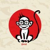 Chinese zodiac Monkey Royalty Free Stock Photos