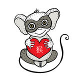Chinese zodiac Monkey Stock Image