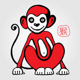 Chinese zodiac Monkey Royalty Free Stock Image