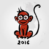 Chinese zodiac Monkey Royalty Free Stock Images