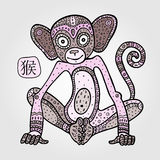 Chinese zodiac Monkey Stock Images
