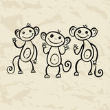 Chinese zodiac Monkey Stock Photography