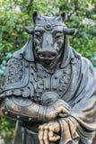 Chinese Zodiac Ox statue Sik Sik Yuen Wong Tai Sin Temple Kowloo Royalty Free Stock Image