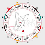 Chinese  Zodiac  Pig Royalty Free Stock Photography